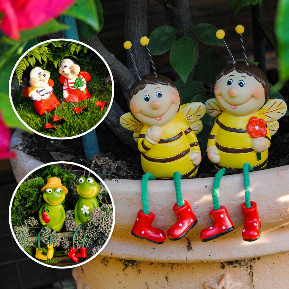 Kantensitzer Frosch, Biene oder Marienkäfer Image