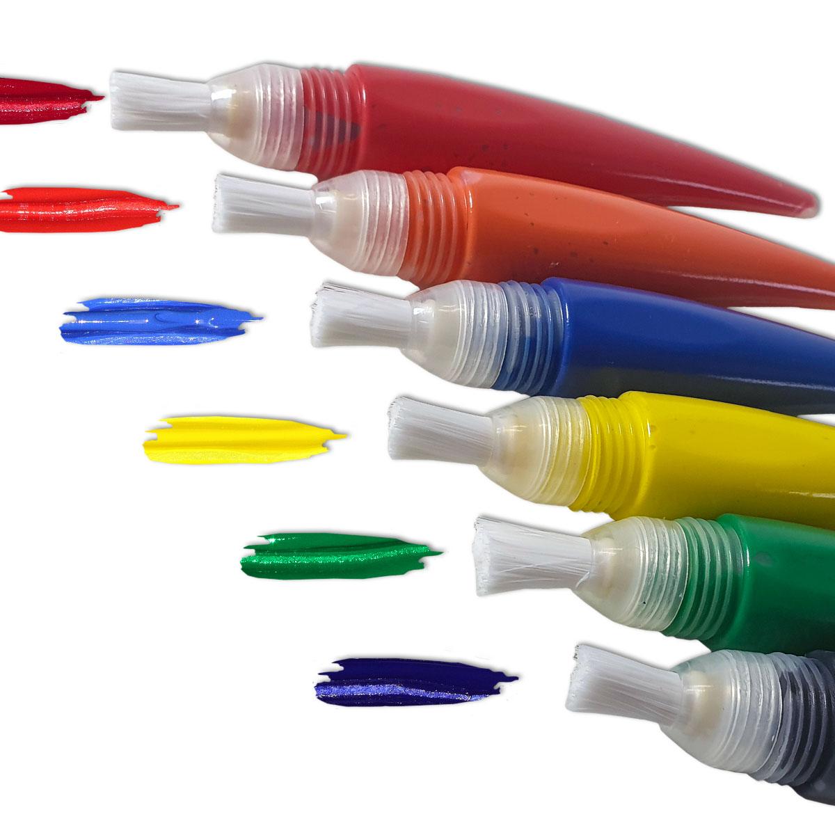 6er Set Pinselstifte, wieder befüllbar Image