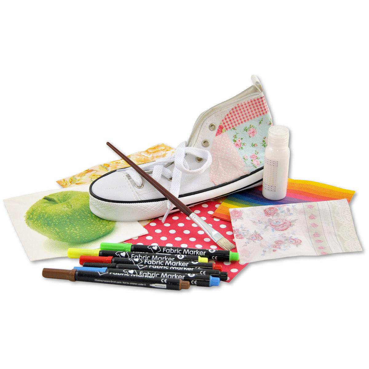 13-tlg. Set DIY Faulenzer Schuh mit umfangreichem Zubehör Image