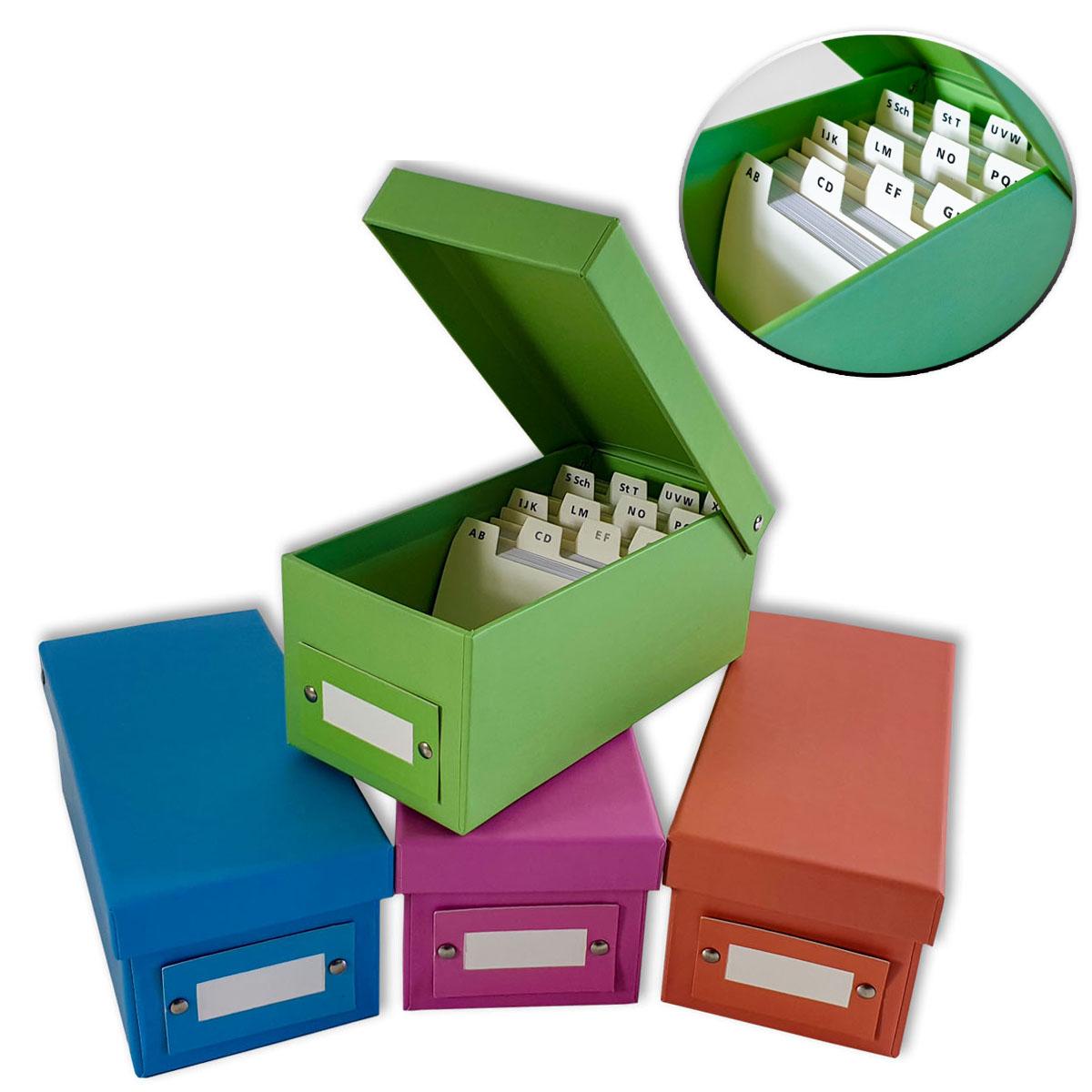 Lernbox mit 400 linierten Kärtchen DIN A8 Image