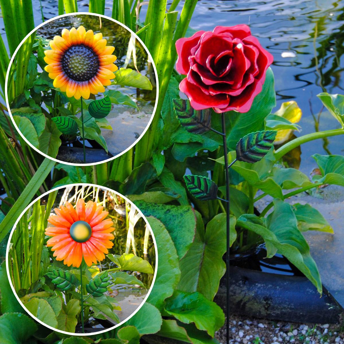 Frühlings-/Sommerblumen aus Metall Image