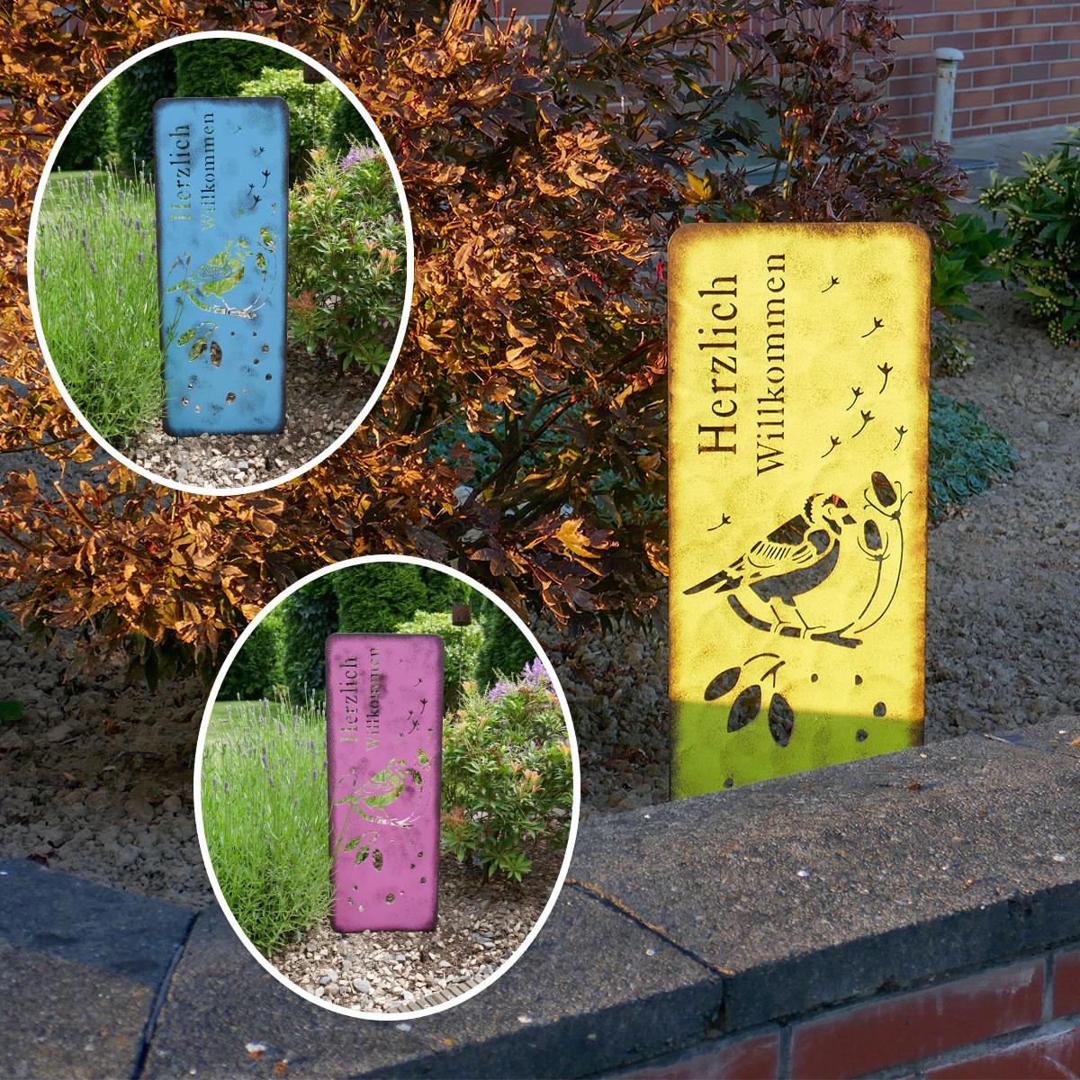 Gartenstecker mit Sprüchen Image