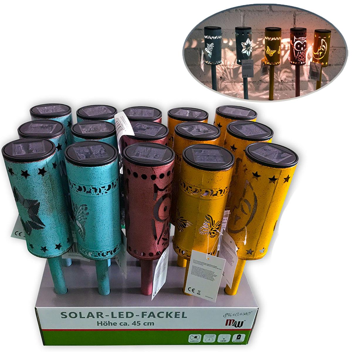 Solar-LED-Fackel 45 cm in Vintagelook Image