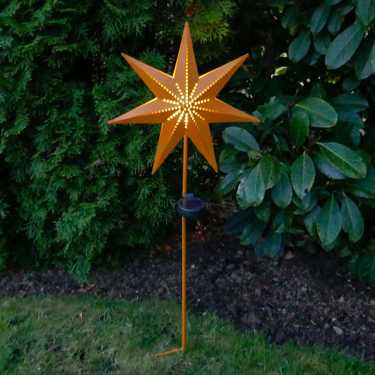 Gartenstecker Stern mit Solar-LED-Beleuchtung Image