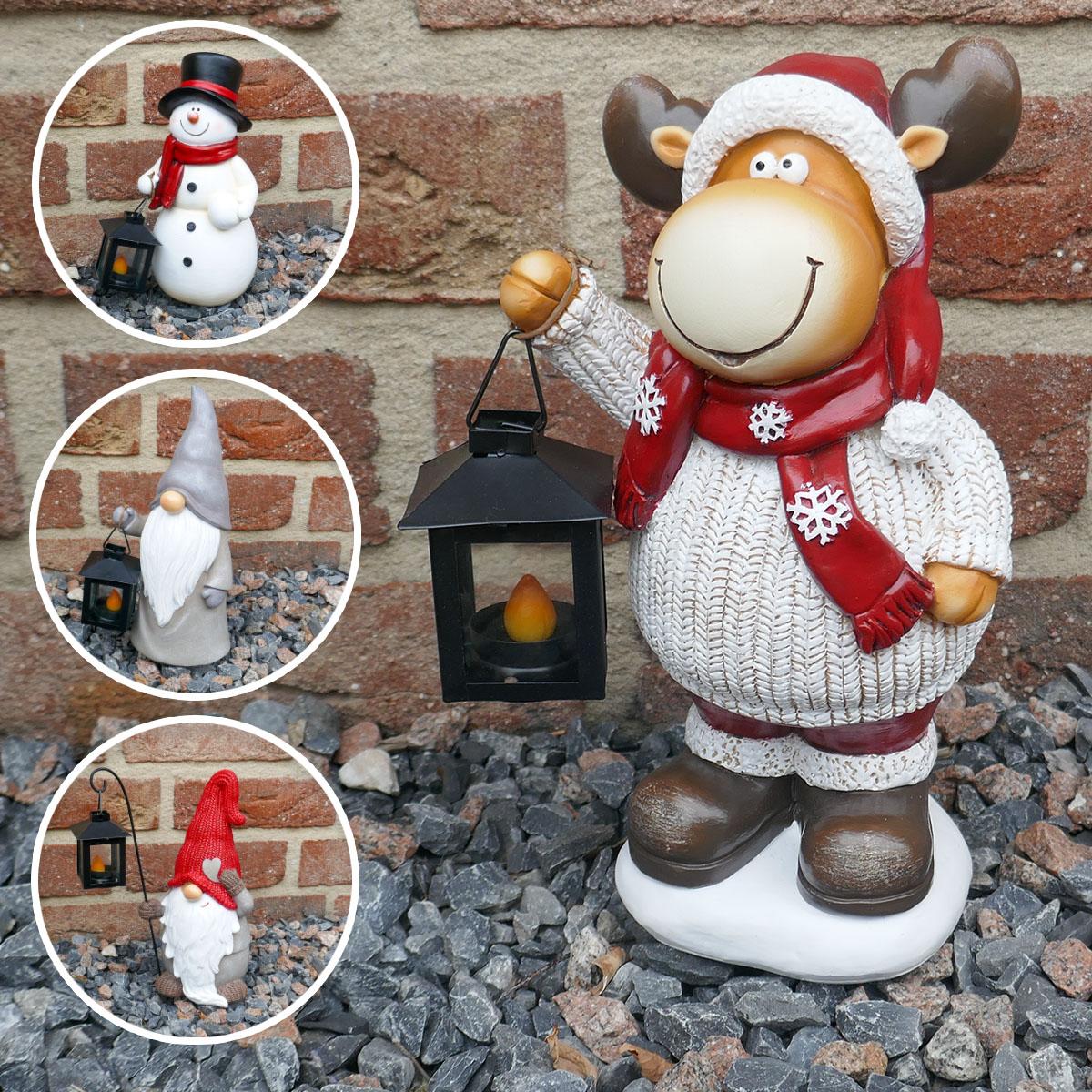 Weihnachtsfiguren mit Laterne Image