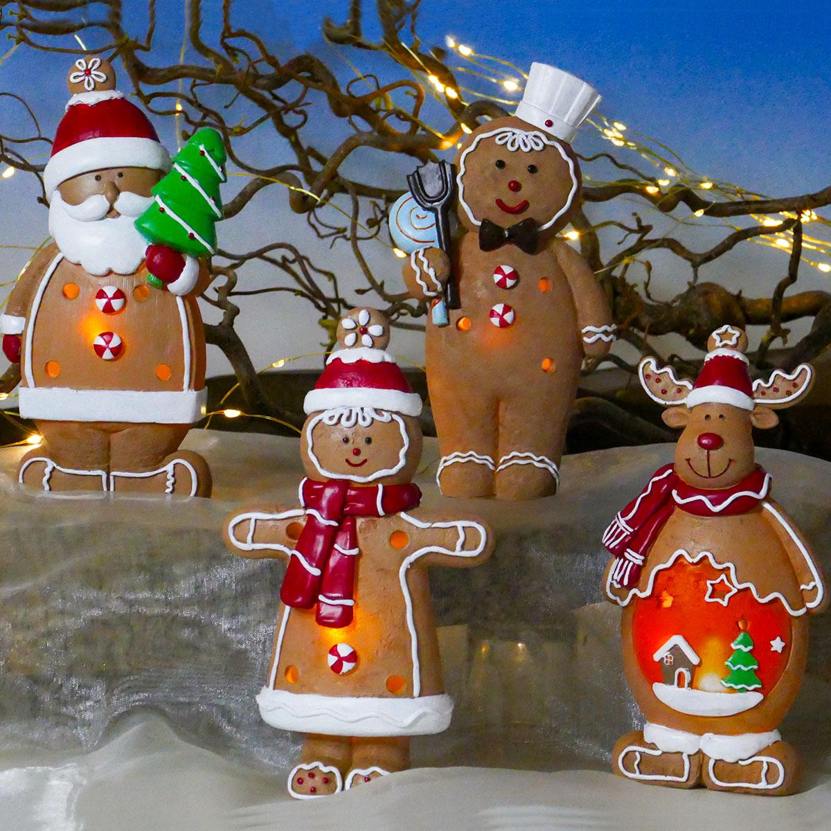 Lebkuchenfiguren mit LED-Beleuchtung Image