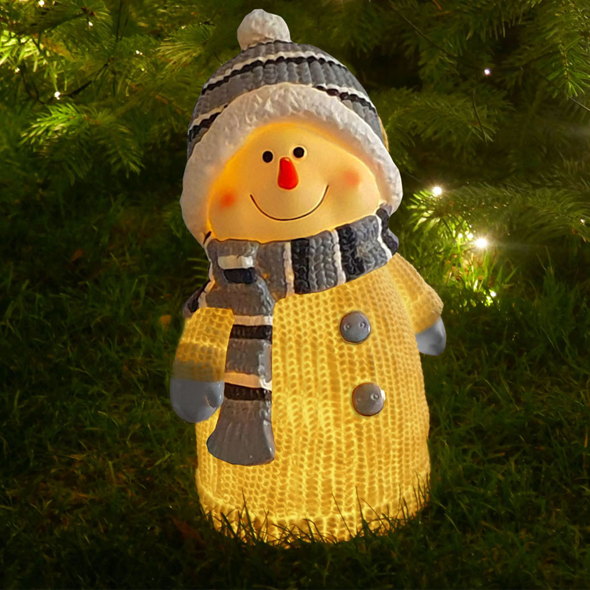 Schneemann mit LED-Beleuchtung Image