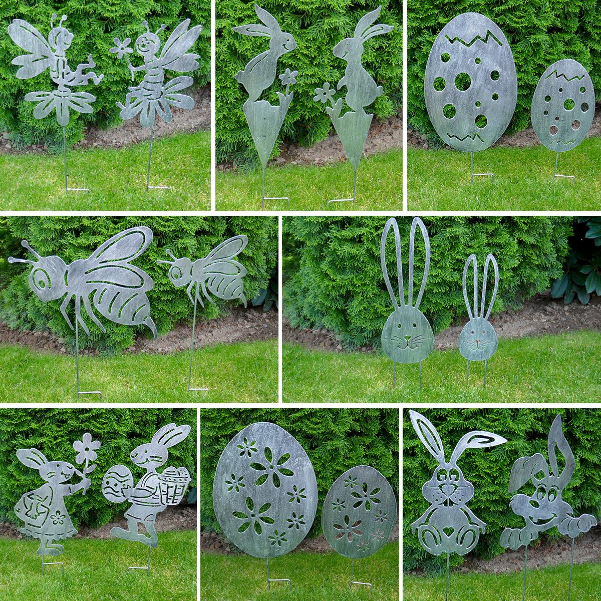 2er-Set Garten-Metallstecker