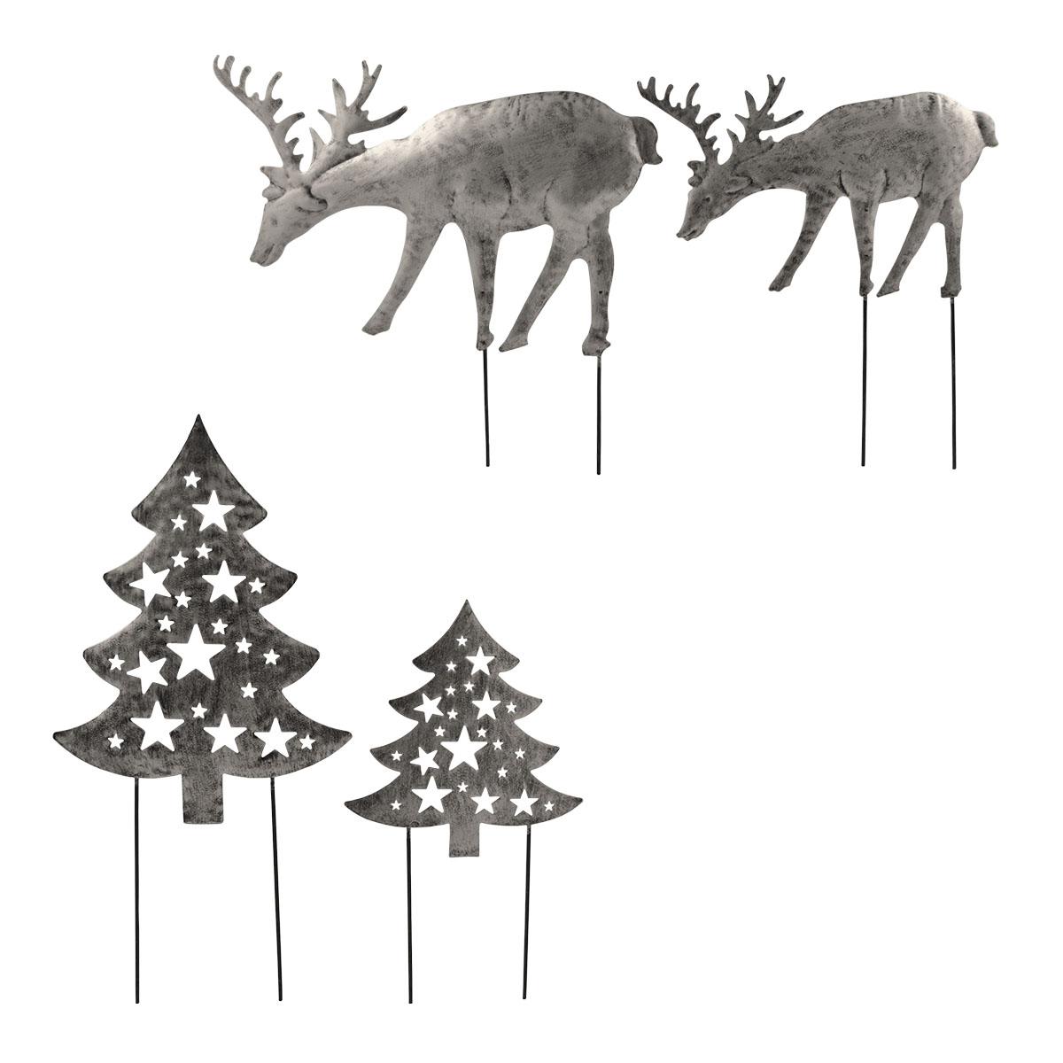 2er Set weihnachtliche Metallstecker Image