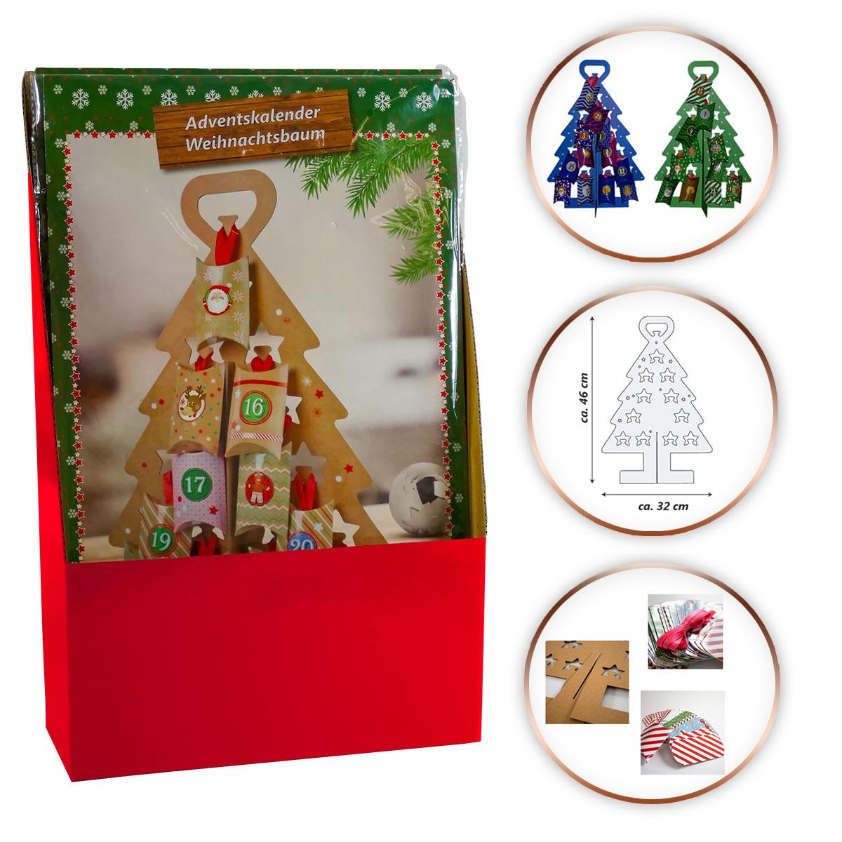12-tlg. Verkaufsdisplay Adventskalender Weihnachtsbaum Image