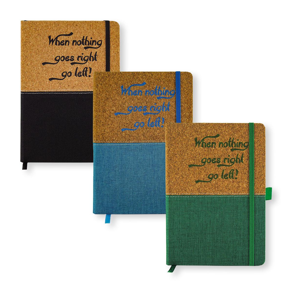 Notizbuch DIN A5 mit Kork/Stoffbezug Image