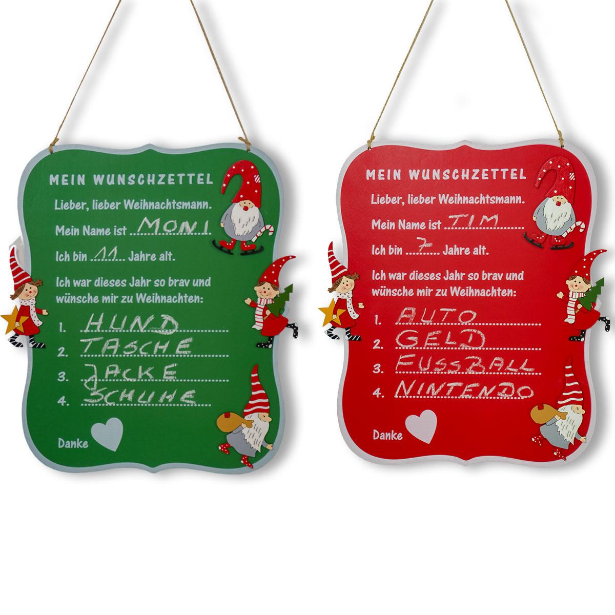 Weihnachts - Wunschtafel aus Holz Image
