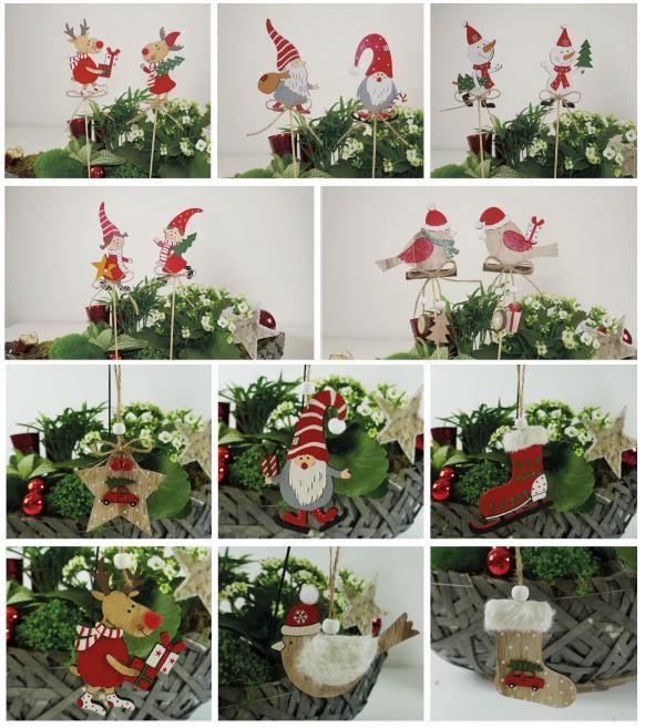 2er-Set Weihnachtsanhänger und Pflanzenstecker Image